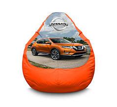 """Кресло мешок """"Nissan. Qashqai. Orange"""" Оксфорд"""