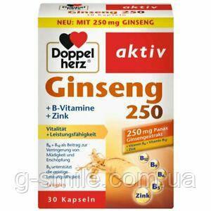 Doppelherz Ginseng 250+B-Vitamine+Zink 30 St
