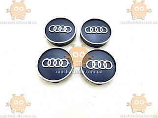 Емблема колеса AUDI ауді чорна 4ШТ пластик (ковпачки колеса для титанів) (діаметр ф58-60мм) 171103