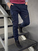Штаны карго брюки мужские весенние осенние качественные синие Fast Traveller Intruder