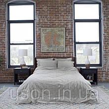 Комплект постельного белья Barine Washed cotton евро размер Suit antrasit антрацит