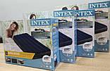 Надувной двухместный матрас Intex 183*203*25 две подушки intex и ручной насос КОМПЛЕКТ, фото 5