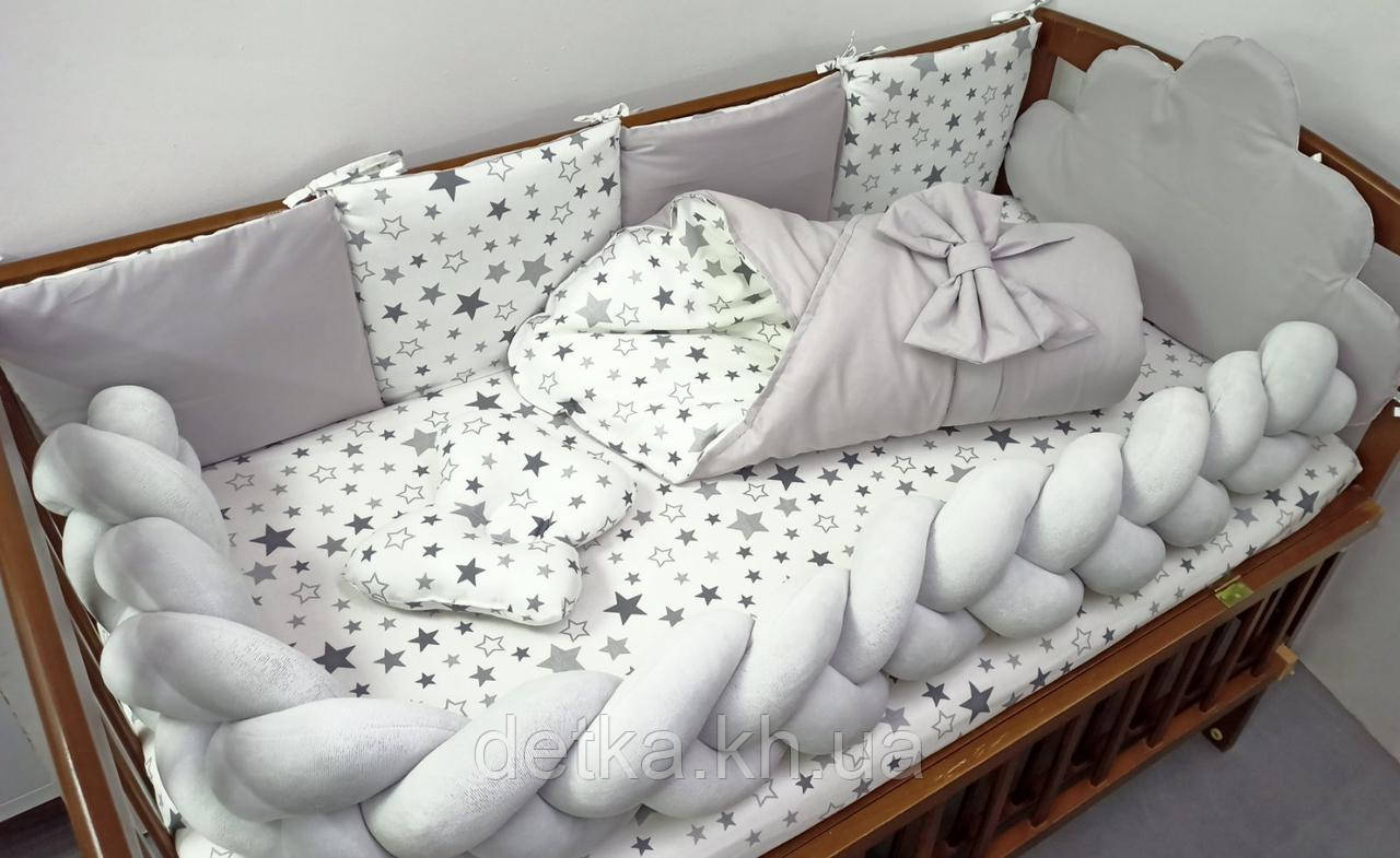 """Комплект постельный в детскую кроватку с конвертом """"Тучка"""""""