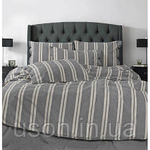 Комплект постельного белья Barine Washed cotton евро размер Heritage antrasit антрацит