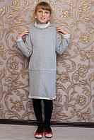 Теплое детское платье для девочки