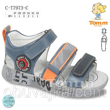 Детская летняя обувь 2021 оптом. Детские босоножки бренда Tom m для мальчиков (рр. с 27 по 32), фото 2