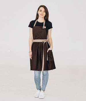 Фартук платье Vanilla Коричневий