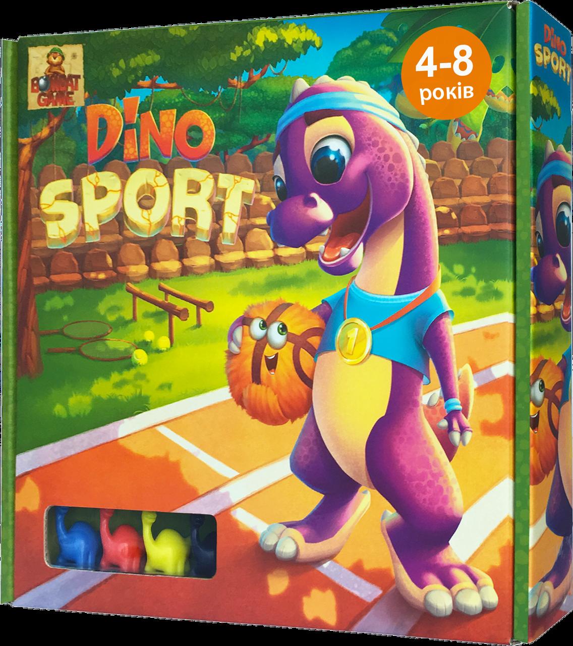 Настольная игра Dino Sport веселые гонки Динозавров
