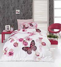 Комплект постельного белья сатин 3d First Choice полуторный размер Flairs
