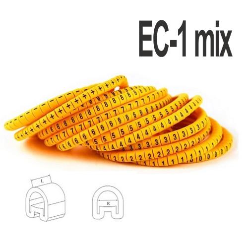 Набір кабельних маркувань ЄС-1 (1,5 - 4мм2)