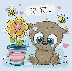 """Картина по номерам. Art Craft """"Медвежонок с цветочком"""" 30*30 см 15513-AC"""