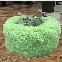 Подушка- лежак для кошек и собак. Спальное место для домашних животных 50 см, салатовый