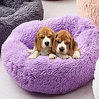 Подушка-лежак (лежанка) для собак и кошек 50 см,. Спальное место для кошек и собак цвет сирень