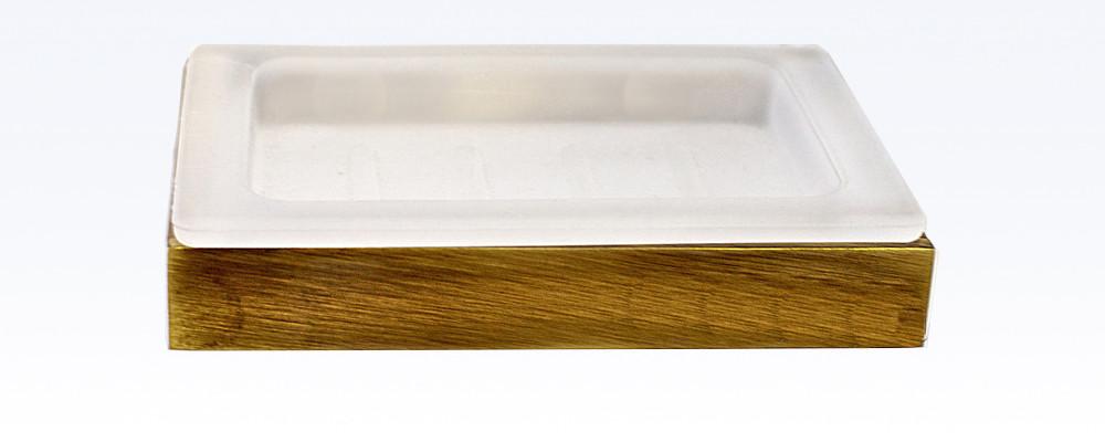 Мыльница со стеклом серия Viya бронза