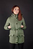 Куртка парка женская зимняя с мехом Quality not Quantity - Olive