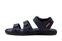 Чоловічі шкіряні сандалі Nike ACG Blue (репліка)