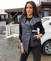 Женский черный костюм 3 в 1 с жилеткой Sogo 20-155