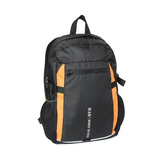 Міський спортивний рюкзак Tamix чорний з оранжевим від MAD | born to win™
