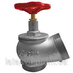 Вентиль (кран) пожарный угловой Ду-65 алюминий