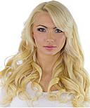 Волосся на заколках 50 см. Колір #60 Холодний блонд, фото 4