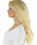Волосся на заколках 50 см. Колір #60 Холодний блонд, фото 5