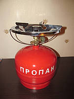 Газова пальник, 5 л., набір для туриста, газова плита Турист, газ пропан, примус