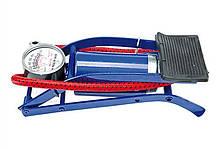 Насос универсальный ножной с манометром  King 801A -4штуки в ящике