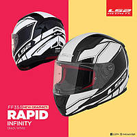 Мото шлем LS2 FF353 Rapid Infinity Black White