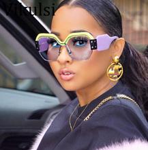 Стильні окуляри жіночі жовто-фіолетове оправа Vikulsi мода 2020