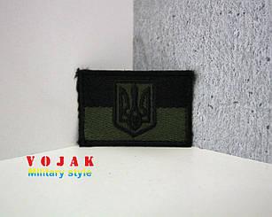 "Шеврон ""Флаг черный/олива + Герб"""