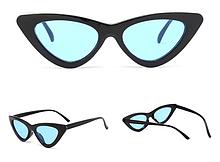Модні жіночі окуляри з синіми лінзами в чорній оправі Avatar