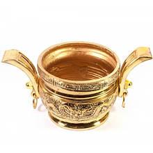 Оригинальная чаша металлическая интерьерная