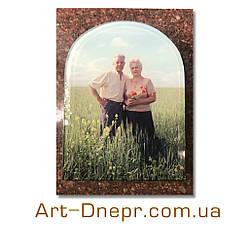 Фотография в стекле на памятник. 240х300мм.