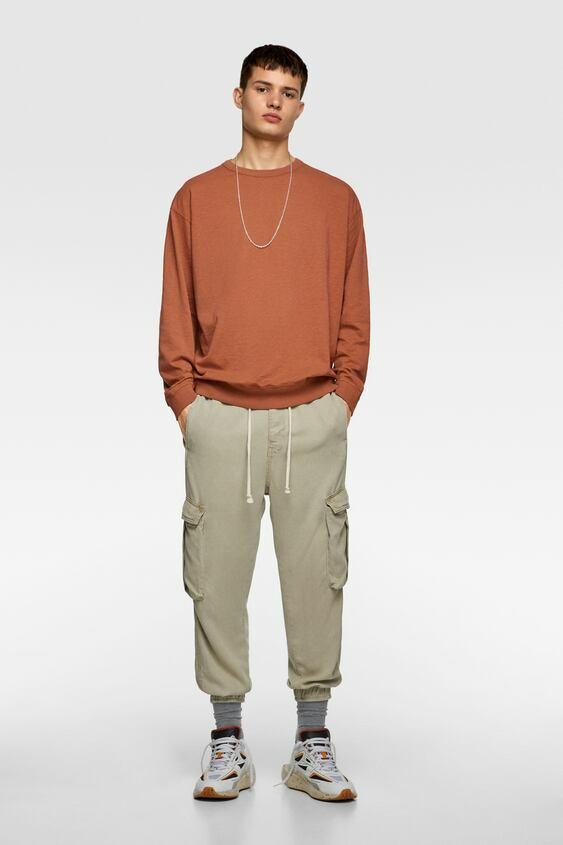 Кофта мужская Zara оранжевая (0679 304 701)