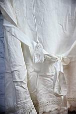 Пляжное платье - туника с поясом и вязаной отделкой, фото 3