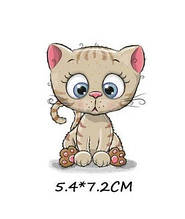 Детская термоаппликация для одежды Котёнок