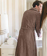Мужской махровый халат CASUAL AVENUE Chicago Warm Gray размер S