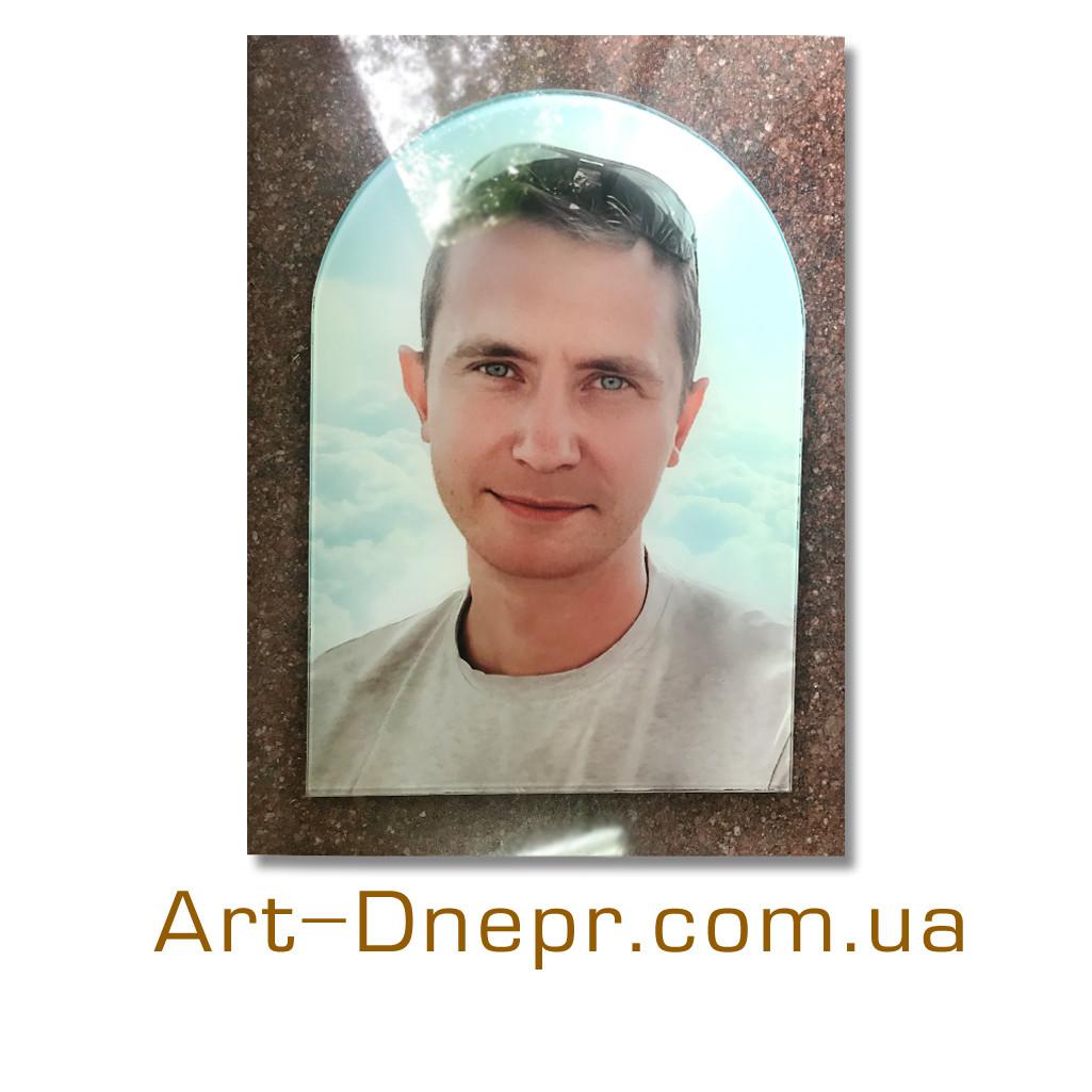 Портрет на пам'ятник з закругленням 500х1000мм