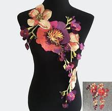 Украшение аппликация для одежды Цветы