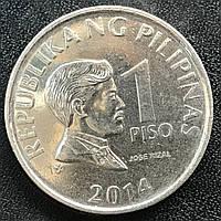 Монета Филиппин 1 песо 2014 г.