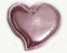 Аппликация пришивная на одежду Сердце 10 шт