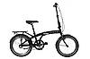 """Складной велосипед с корзиной и багажником DOROZHNIK ONYX 20""""PH (черный)"""