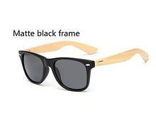Стильні сонячні окуляри з дерев'яною дужкою Avatar