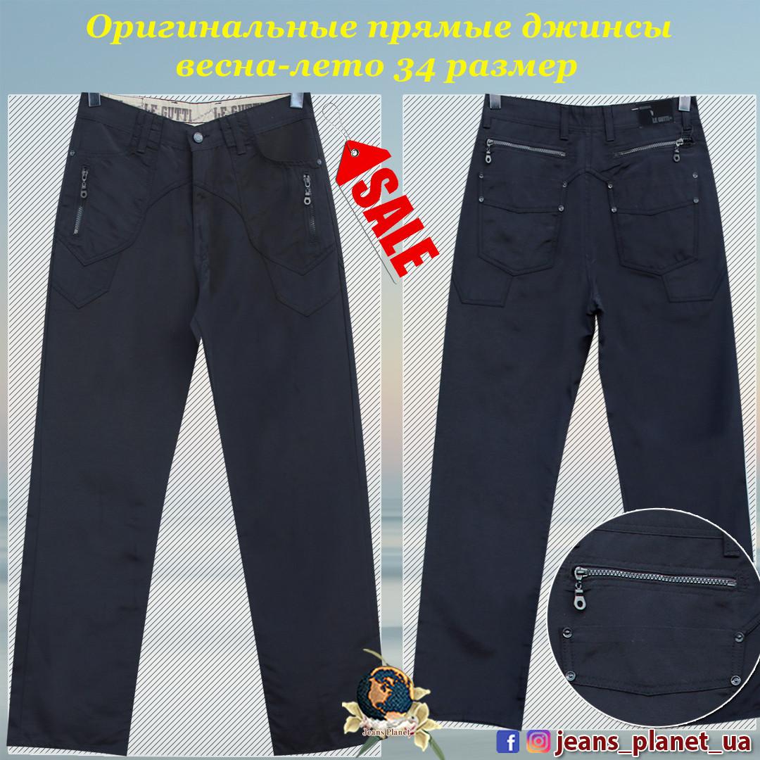 Оригинальные мужские джинсы прямого покроя весна-лето 34 размер