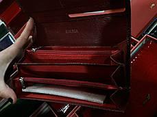 Кошелек кожаный женский лаковый на магните бордовый с 2-мя монетницами Balisa В826-39, фото 2