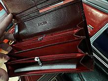 Кошелек кожаный женский лаковый на магните бордовый с 2-мя монетницами Balisa В826-39, фото 3