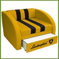 """Раскладное кресло кровать """"Смарт"""" Ламборджини желтый"""