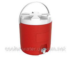 Термос-диспенсер для напитков с краном 6 л Красный