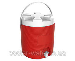 Термос-диспенсер для напоїв з краном 6 л Червоний