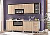 Модульная кухня Тера + 2 метра / Мебель Сервис